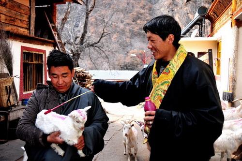 九寨沟县群众以传统习俗迎接立春